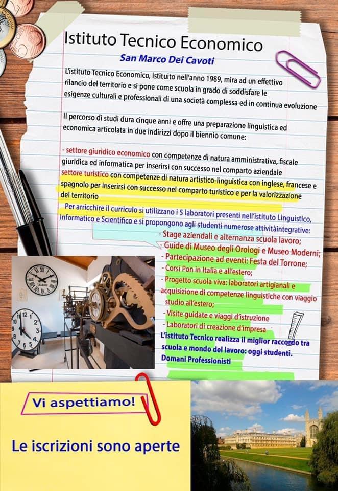 Locandina Istituto Tecnico Economico